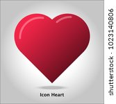 icon image. heart graphic.... | Shutterstock .eps vector #1023140806