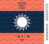 sun symbol icon | Shutterstock .eps vector #1023147172