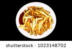 french fries  chips collateral... | Shutterstock . vector #1023148702