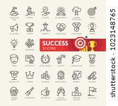 sussess  awards  achievment... | Shutterstock .eps vector #1023148765