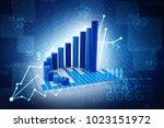 3d rendering stock market...   Shutterstock . vector #1023151972