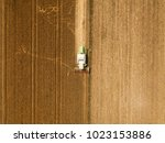 aerial view of combine... | Shutterstock . vector #1023153886