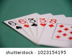 playing poker cards and money | Shutterstock . vector #1023154195