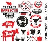 restaurant retro vector logo... | Shutterstock .eps vector #1023156166