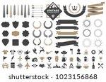 vintage retro vector logo for... | Shutterstock .eps vector #1023156868