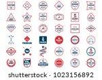 vintage retro vector logo for... | Shutterstock .eps vector #1023156892