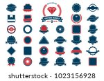vintage retro vector logo for... | Shutterstock .eps vector #1023156928