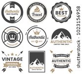 vintage retro vector logo for... | Shutterstock .eps vector #1023156958
