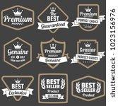 vintage retro vector logo for... | Shutterstock .eps vector #1023156976