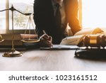 lawyer working about law with... | Shutterstock . vector #1023161512