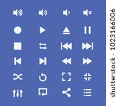 audio video control icons.media ... | Shutterstock .eps vector #1023166006