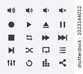 audio video control icons.media ...