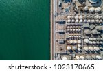 aerial view of tank farm for... | Shutterstock . vector #1023170665