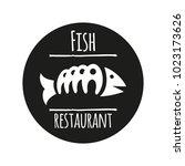 vector logo template for fish... | Shutterstock .eps vector #1023173626