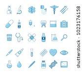 set of medicine icons | Shutterstock .eps vector #1023176158