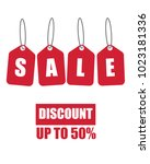 retail sale tag set | Shutterstock .eps vector #1023181336