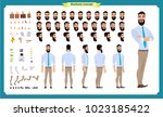people character business set.... | Shutterstock .eps vector #1023185422