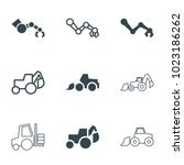 hydraulic icons. set of 9... | Shutterstock .eps vector #1023186262