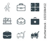 case icons. set of 9 editable...   Shutterstock .eps vector #1023186412