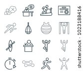 training icons. set of 16... | Shutterstock .eps vector #1023188416