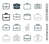 brief icons. set of 16 editable ...   Shutterstock .eps vector #1023188422