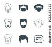 disguise icons. set of 9...   Shutterstock .eps vector #1023189232