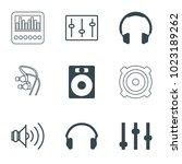 volume icons. set of 9 editable ... | Shutterstock .eps vector #1023189262