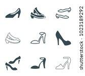 heel icons. set of 9 editable...   Shutterstock .eps vector #1023189292