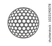 golf ball isolated vector | Shutterstock .eps vector #1023190078
