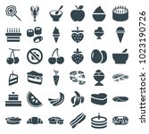 delicious icons. set of 36... | Shutterstock .eps vector #1023190726