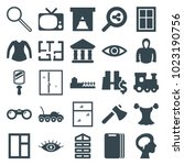 view icons. set of 25 editable... | Shutterstock .eps vector #1023190756
