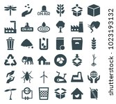 environment icons. set of 36... | Shutterstock .eps vector #1023193132