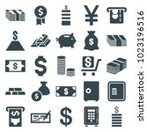 wealth icons. set of 25... | Shutterstock .eps vector #1023196516
