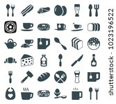 breakfast icons. set of 36... | Shutterstock .eps vector #1023196522