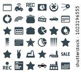 trendy icons. set of 36...