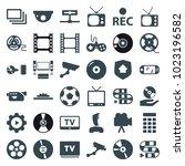 video icons. set of 36 editable ...   Shutterstock .eps vector #1023196582
