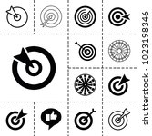 dartboard icons. set of 13... | Shutterstock .eps vector #1023198346