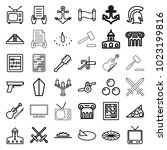 antique icons. set of 36... | Shutterstock .eps vector #1023199816