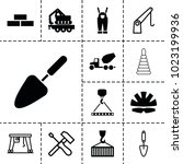 build icons. set of 13 editable ... | Shutterstock .eps vector #1023199936