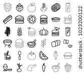 nutrition icons. set of 36... | Shutterstock .eps vector #1023200122