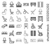 seat icons. set of 36 editable... | Shutterstock .eps vector #1023201202
