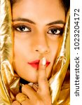 beautiful female model in hi... | Shutterstock . vector #1023204172