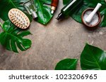 spa natural products concept ...   Shutterstock . vector #1023206965