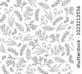 floral seamless pattern with... | Shutterstock .eps vector #1023213556