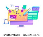 creation and design using... | Shutterstock .eps vector #1023218878