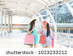 shopping portrait of young