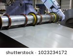 Small photo of The production of steel coil on slitter line.