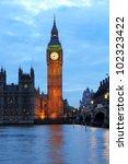 Illuminated Big Ben With...