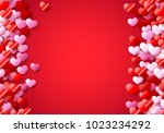 valentines day card with... | Shutterstock .eps vector #1023234292