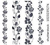 rose tattoo pattern....   Shutterstock .eps vector #1023235276
